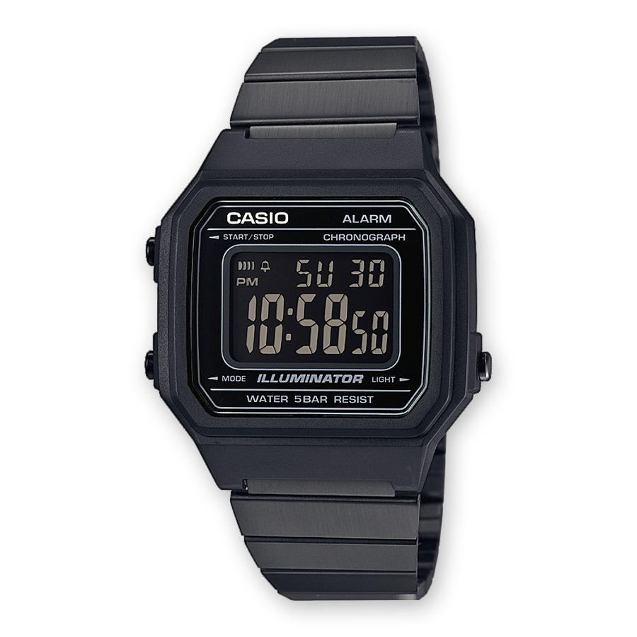 60179a31d166 reloj casio retro b-650wb-1b digital unisex negro pavonado. Cargando zoom.
