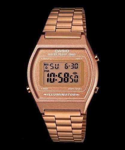 reloj casio retro b640 rosado dorado oferta del mes