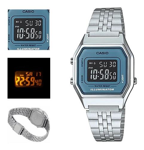 reloj casio retro dama la680wa envio g. iluminator  watchito