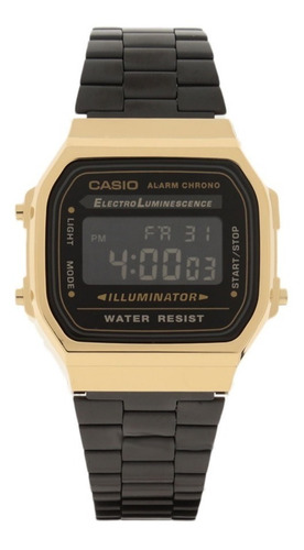 reloj casio retro digital negro + caja sencilla