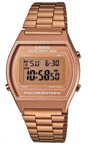 reloj casio retro digital oro rosa original b640+garantia