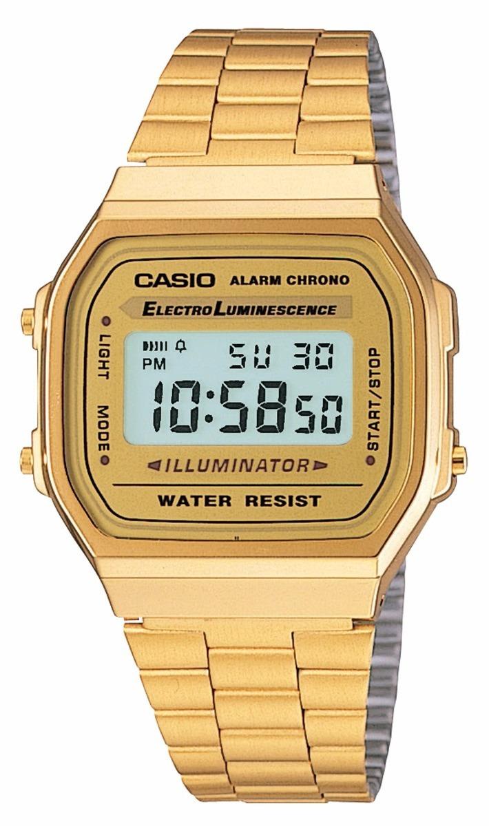 62a5b463f380 Reloj Casio Retro Dorado Clasico Unisex A168wg-9wdf -   124.990 en ...