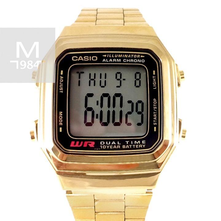 Agua Retro De Dorado Reloj Al Casio AceroLuzResistente Ac35RjL4q