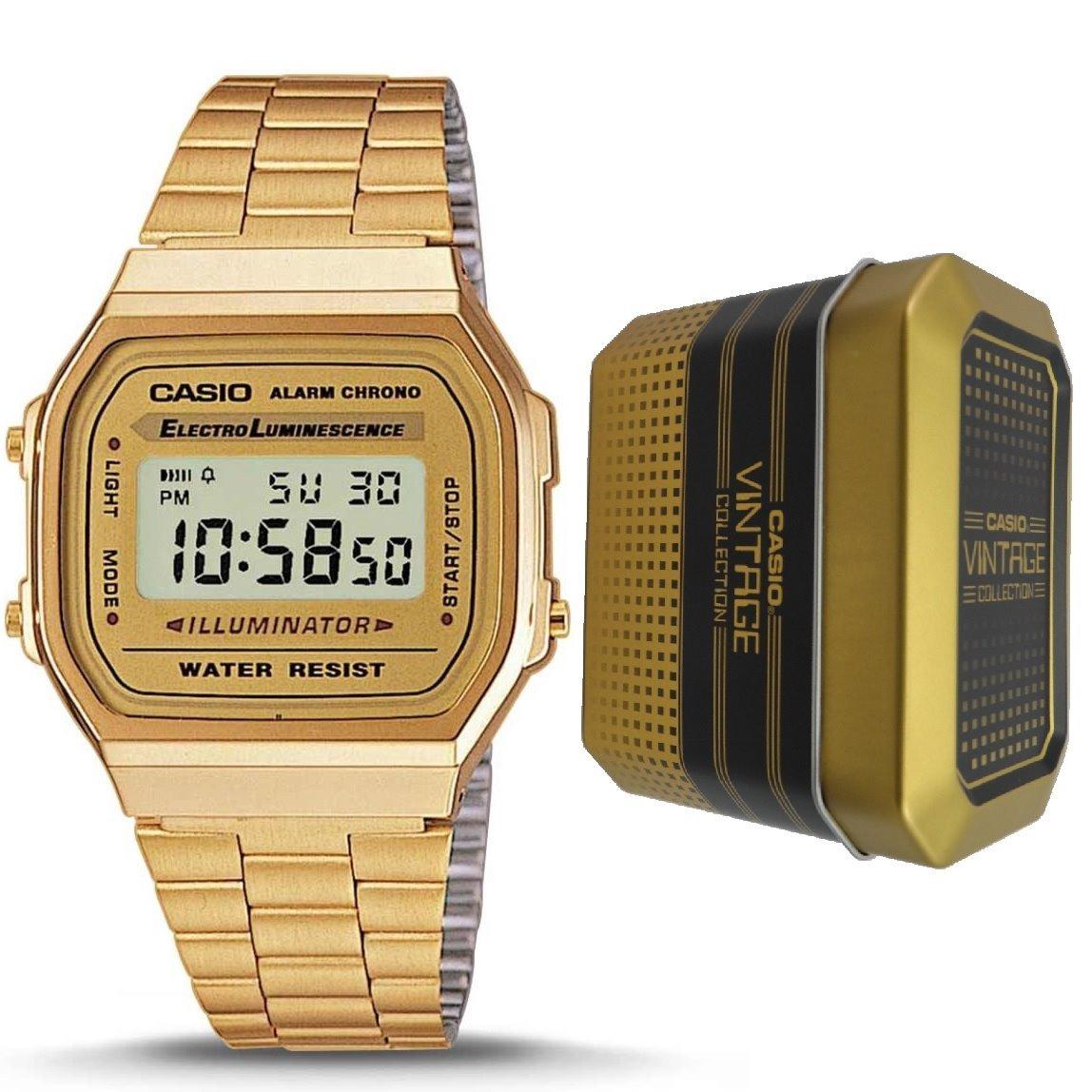 bb255dad250b Reloj Casio Retro Dorado Vintage A168wg-9w Original Unisex ...