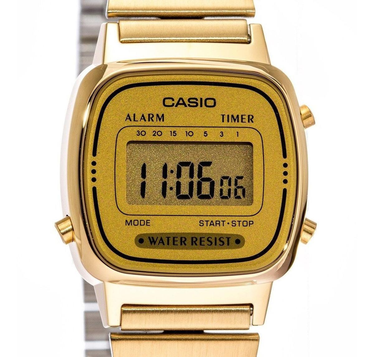 Reloj Casio Retro La670 Dorado Dama Acero Inoxidable