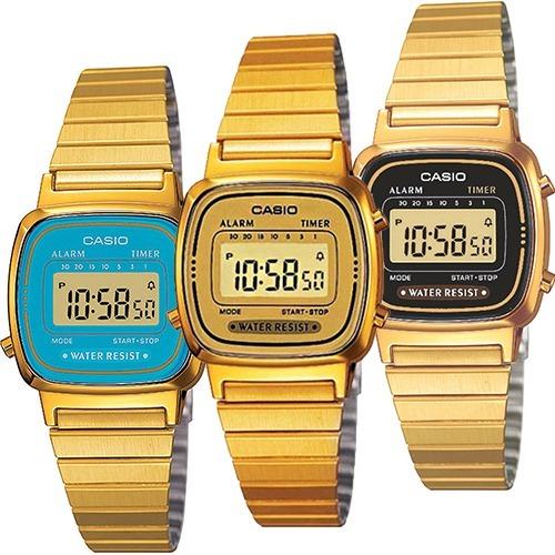 153a5f7daa46 Reloj Casio Retro La670 Dorado Dama Acero Inoxidable -   749.00 en ...