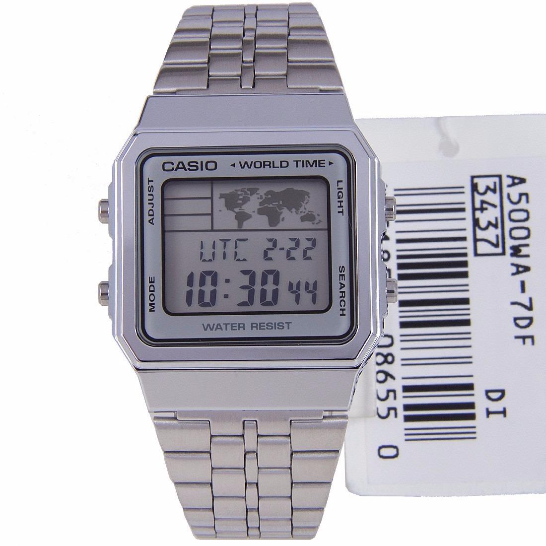 ed44f338e7ad reloj casio retro modelo a 500wa 7df autentico original. Cargando zoom.