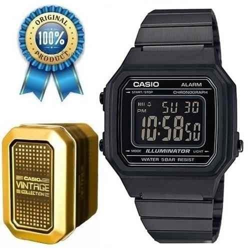 a6741bef2cba Reloj Casio Retro Negro B650 Original Acero Vintage Unisex ...