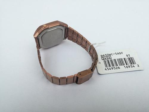 reloj casio retro oro rosa b650wc100% original nueva colecci