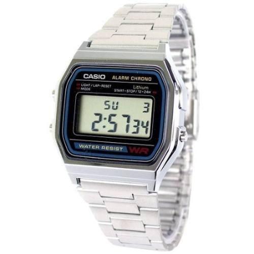 reloj casio retro vintage a 158 alarma cronometro luz