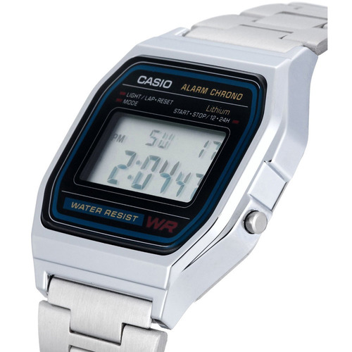 reloj casio retro vintage a158 plata original