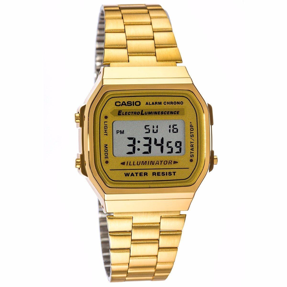 A168 Casio Vintage Gratis Envío Original Dorado Reloj Retro qGLpSVMUz