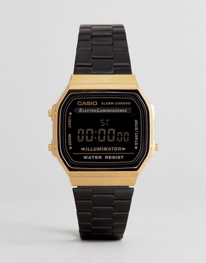 05479f43bd5e reloj casio retro vintage a168 edicion limitada acero negro. Cargando zoom.