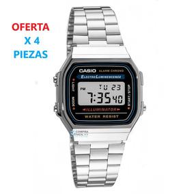 ea5754e2a854 Reloj Casio Retro A168 Plateado Retro Vintage Luce A La Moda - Relojes en Mercado  Libre México