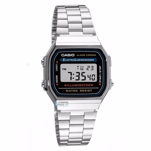 dc2f43f5308f Reloj Casio Retro Vintage A168 Plata - 100% Original Cfmx ...