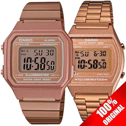 98b66d9fd0e4 Reloj Casio Retro Vintage B640 Oro Rosa + B650 Pareja -   3