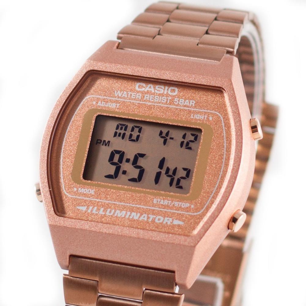 7c713c778156 reloj casio retro vintage b640 oro rosa original alarma luz. Cargando zoom.