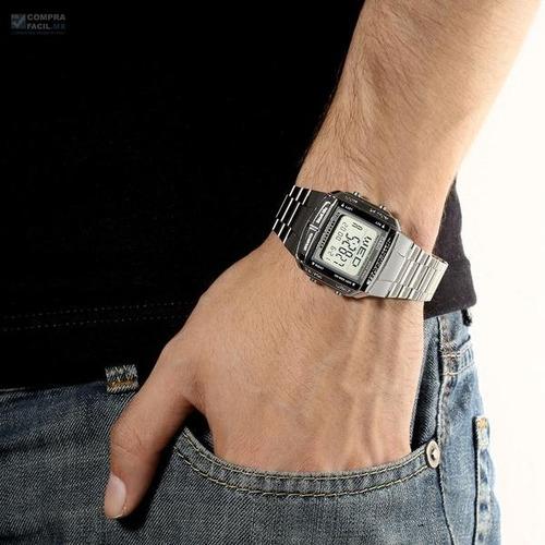 reloj casio retro vintage db360 plata 100% original - cfmx -
