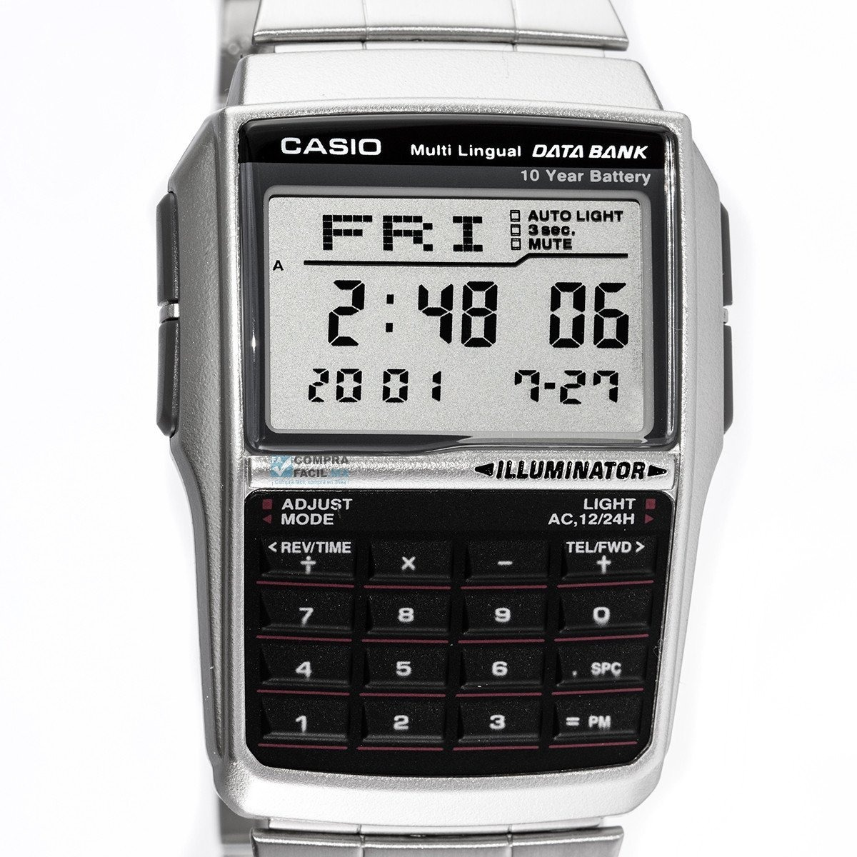 2d9daed56be4 reloj casio retro vintage dbc32 - acero - calculadora - alar. Cargando zoom.