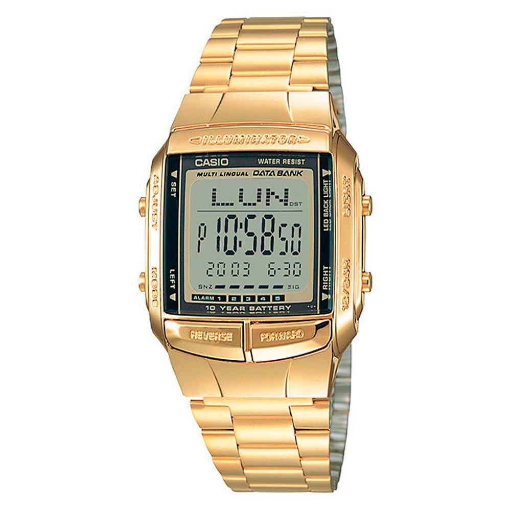 3540fff29f67 Reloj Casio Retro Vintage Dorado Clasico Unisex Db-360g -   168.500 ...
