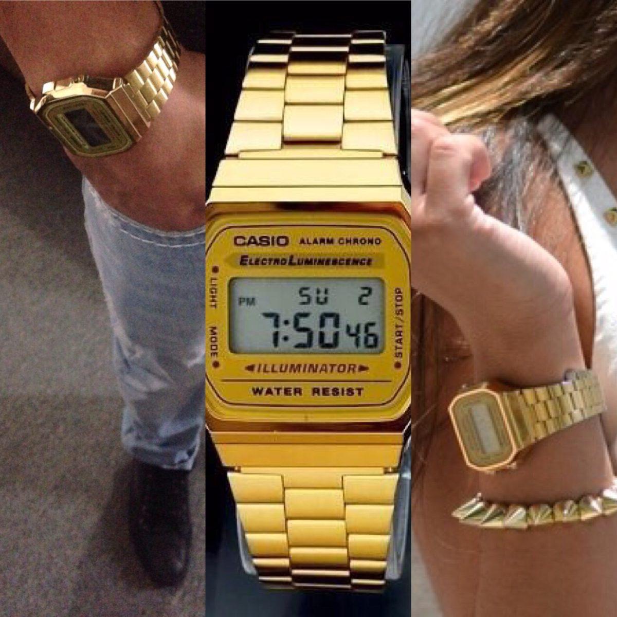 c0a819ca16f9 Reloj Casio Retro Vintage Dorado Y Plateado - Bs. 27.007