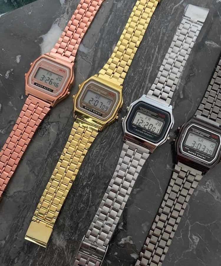 addea416e61a reloj casio retro vintage hombre mujer malla metal luz. Cargando zoom.