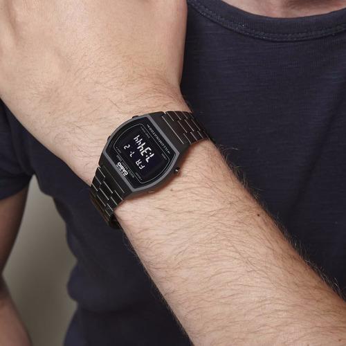 reloj casio retro vintage negro nuevo 100% original unisex*