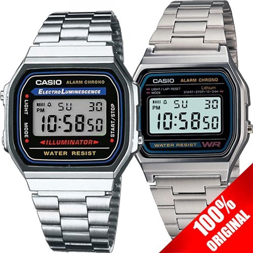 a95f41d4b2ee Reloj Casio Retro Vintage Unisex A158 + A168 Pareja Original ...