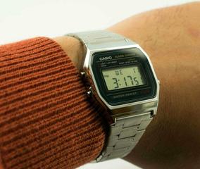 437c906e21e4 Casio Retro Vintage A159 Dorado Microluz Cfmx - Relojes en Mercado ...