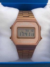 Reloj Casio Rosa Mate A168 Rose Gold Dama Mayoreo