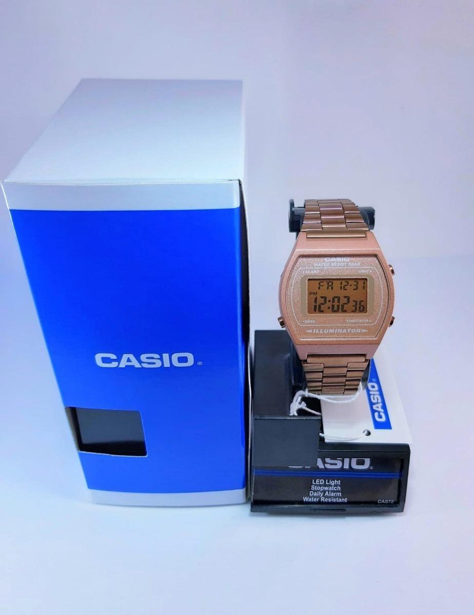 Reloj Casio Rosa Mate B640 Dama Mujer Original Classic Rose Gold Vintage Rosado Cobre Retro
