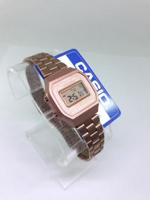Reloj Casio Rosa Mate Chico Dama Mujer Original Clasico Rose Gold Vintage A168 Mini Rosado Cobre