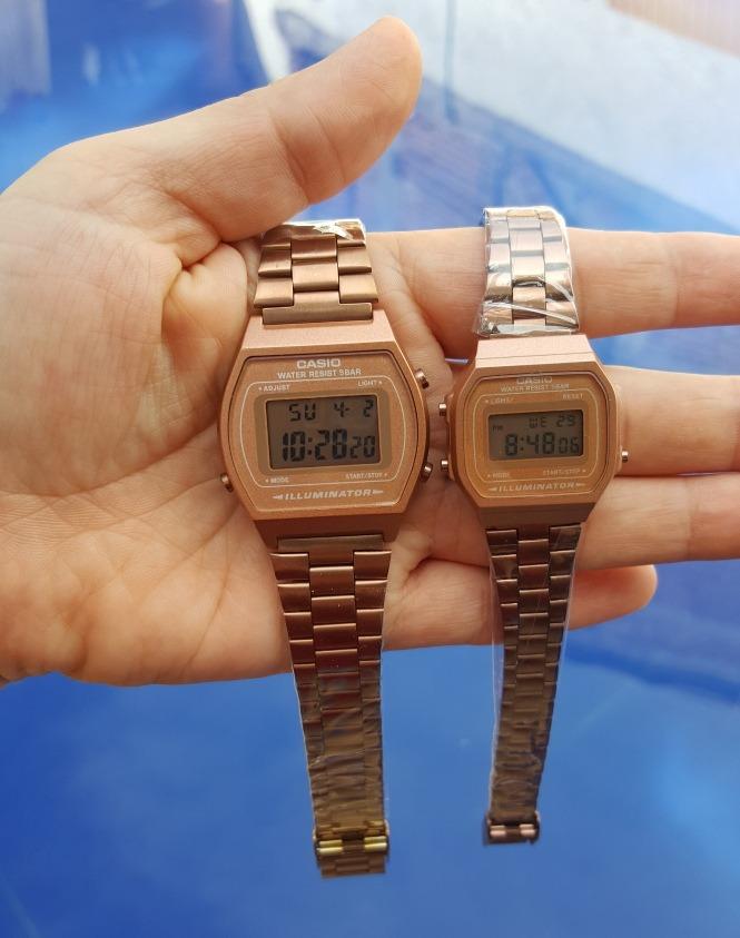 1b1fbb5597cd reloj casio rosa matte pareja 2 pz mini   standar b640w. Cargando zoom.