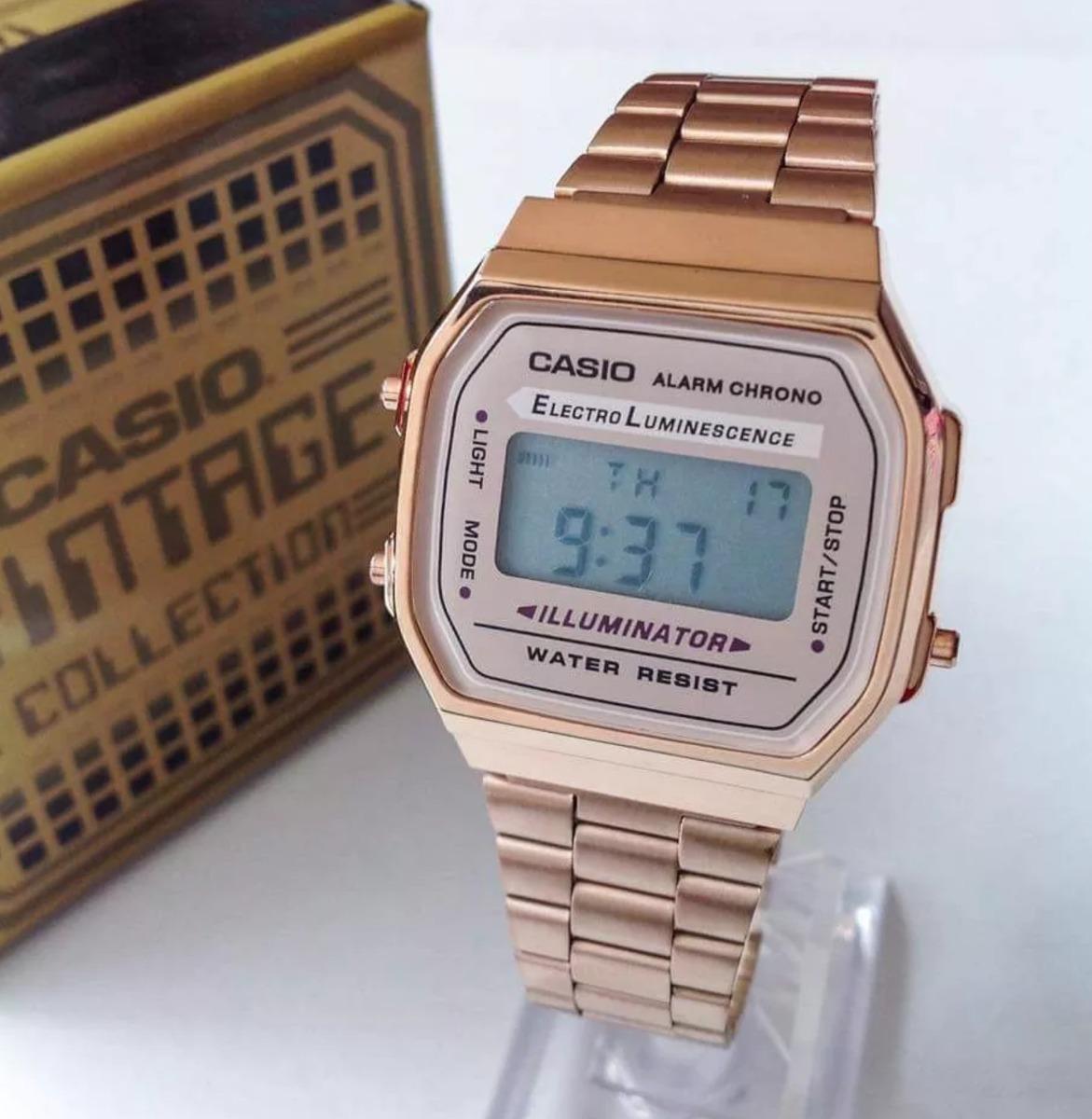 6f1b974a0efb Reloj Casio Rosa Rose Gold A168 Vintage Illuminator -   449.00 en ...