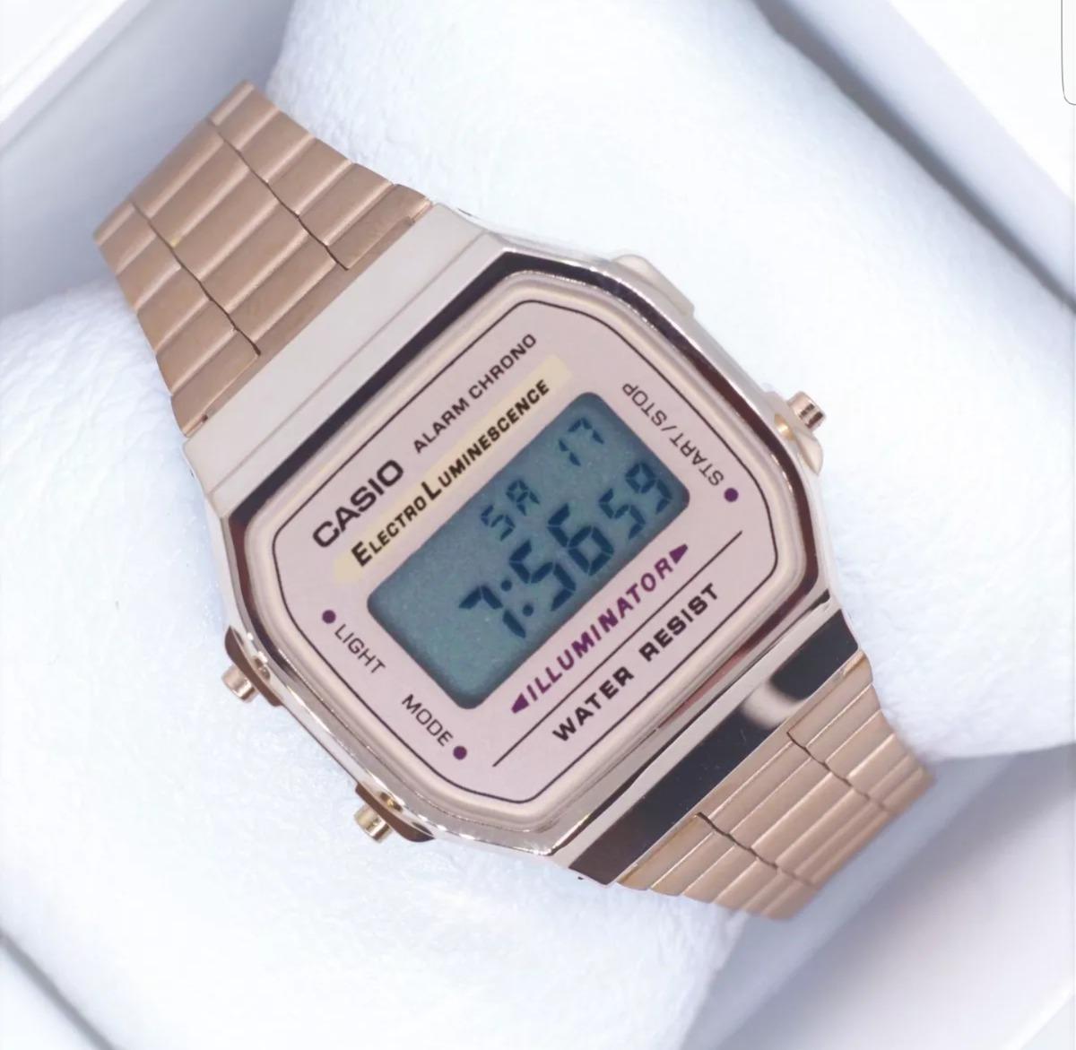 b68aba23d4ec Reloj Casio Rosa   Rose Gold A168 Vintage Retro Dama -   422.06 en ...