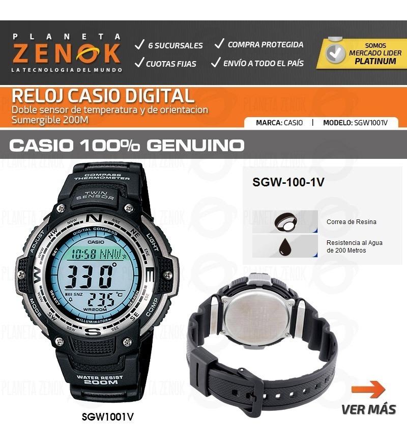 Sgw Sumergible Compas Reloj Casio 1v Temperatura 200m 100 PZuiOkX