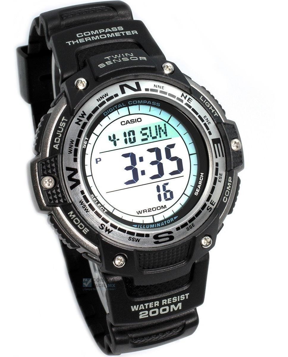 Reloj 5 100 Casio Termometro Sgw Brujula Alarmas Garantia n0mwNv8O