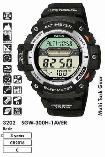 reloj casio sgw-300 altimetro,barometro,termometro,5 alarma