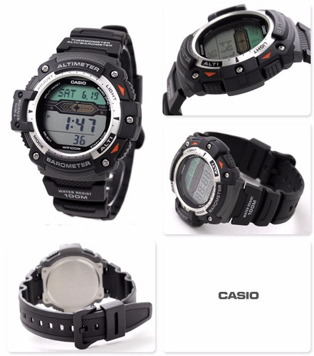 reloj casio sgw300h acero altimetro barometro termometro