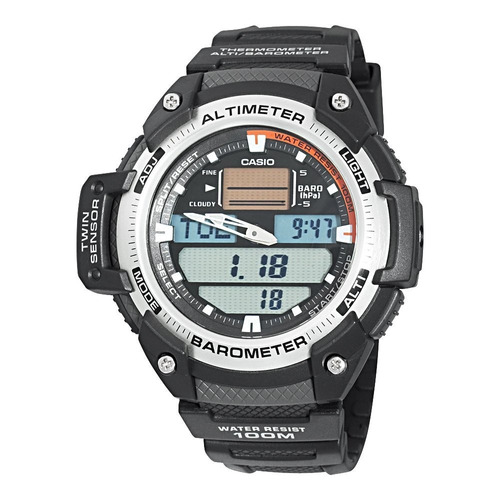 reloj casio sgw400h altimetro barometro termometro acero!