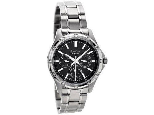 reloj  casio she-3801d-1adr plateado femenino