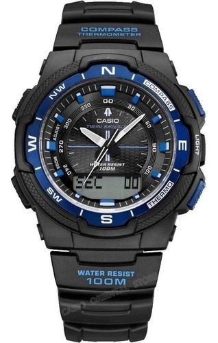 reloj casio sport sgw-500 brujula termometro luz led - 100m