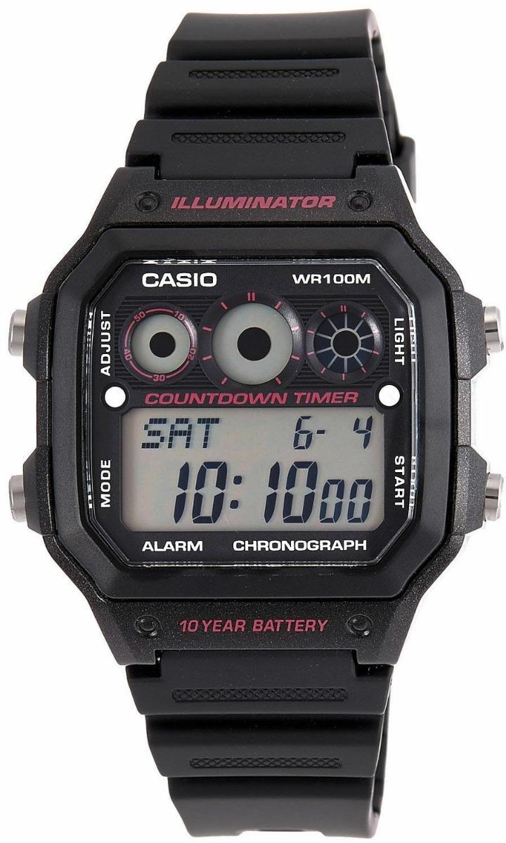 multifunción tapa Reloj Casio De apto Agua Acero Sumergible 8Nn0kZwOPX