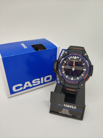 Reloj Casio Swg 450h 2bcf Twin Sensor Altimetro Y Barometro