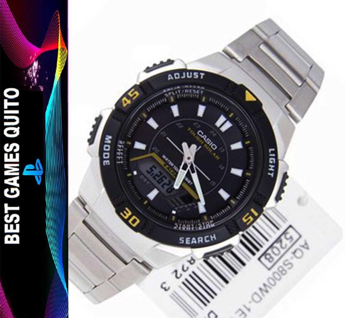 ae7b4a05e515 reloj casio tough solar aq-s800wd para hombre. Cargando zoom.