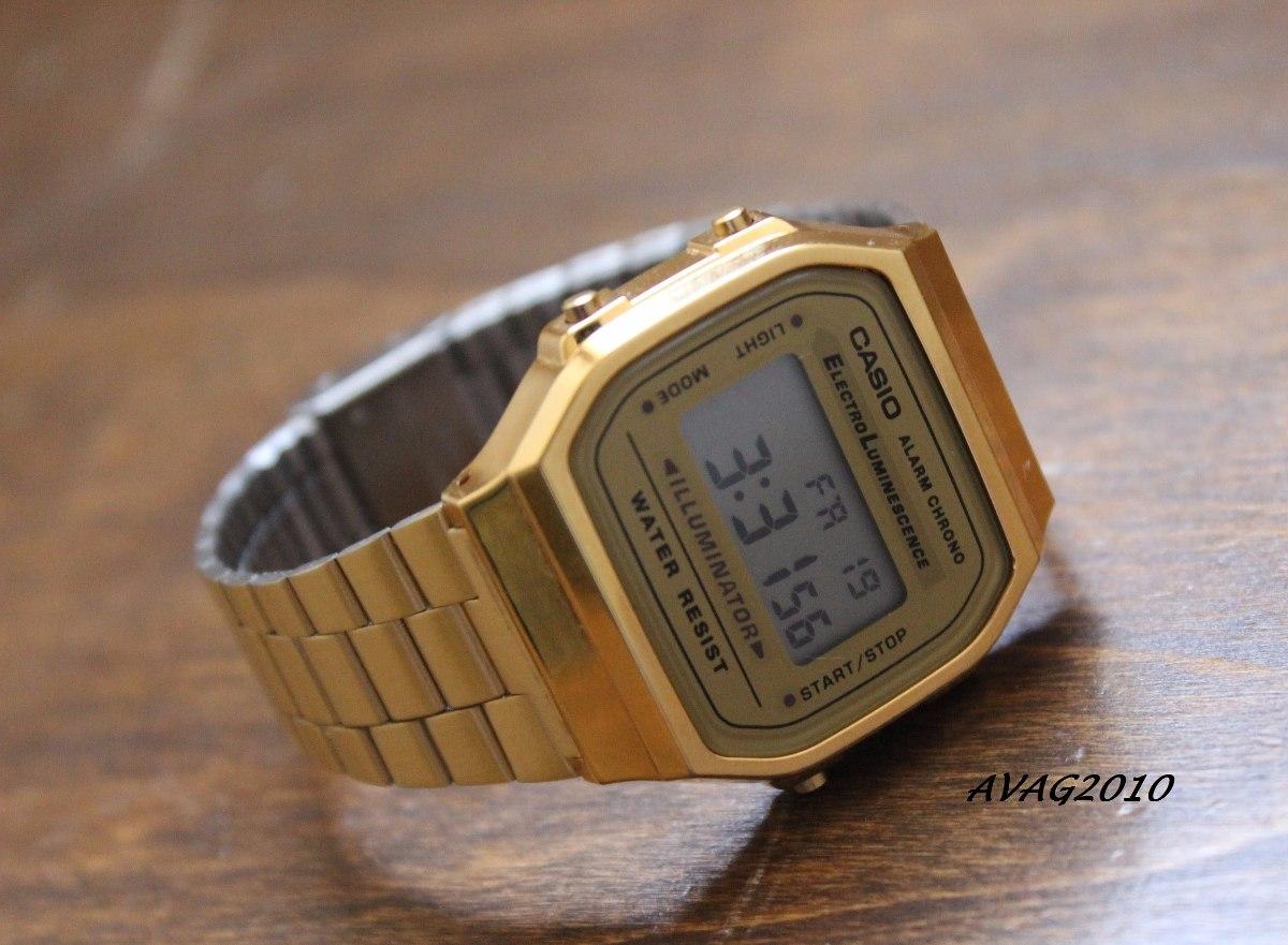 18a5468c6c23 reloj casio retro a 168 dorado unisex 100% original garantia · reloj casio  unisex. Cargando zoom.