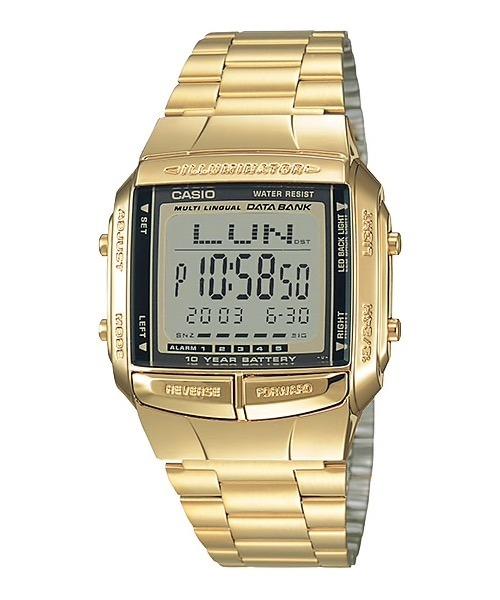 4771bdd727e3 Reloj Casio Unisex Db-360g-9a Dorado Acero Digital - Selfie ...