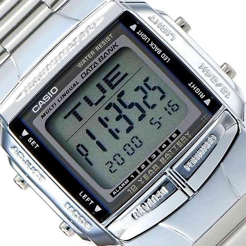 reloj casio unisex plateado db 360. telememo