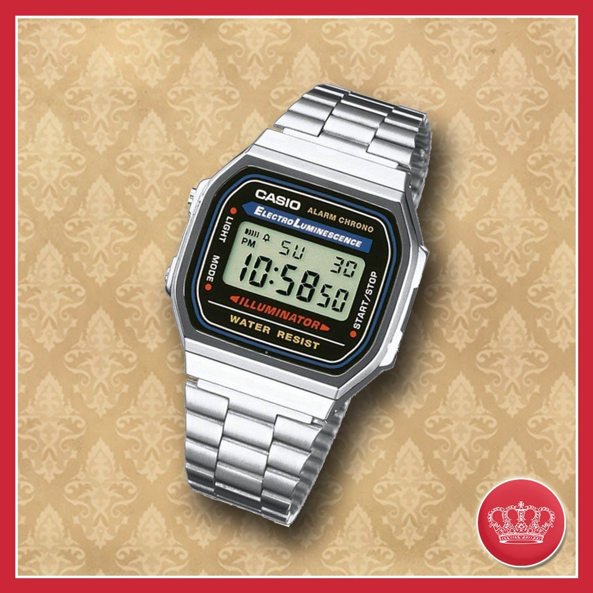 dbacac0c09b9 reloj casio unisex retro vintage a168wa + envio gratis. Cargando zoom.