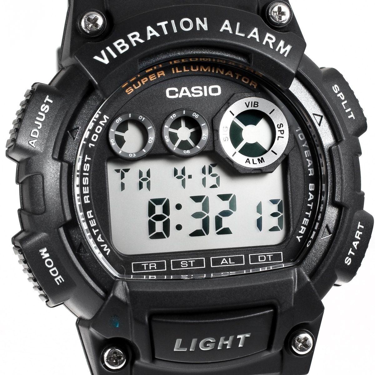 Alarm Casio Vibration Reloj Gratis W735h1avdf HombreEnvío CeBordx